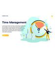 banner time management vector image