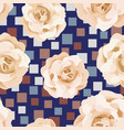 beige roses seamless pattern square background vector image vector image