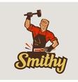 blacksmith smithy vector image vector image
