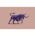 bull with big horns vector image vector image