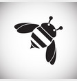 bumblebee on white background vector image