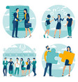 business process set vector image vector image