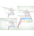 Business related words on a background vector image vector image