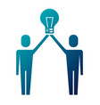 businessmen holding bulb idea solution innovation vector image vector image