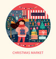 christmas market vector image vector image