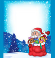 christmas outdoor topic 2 vector image vector image