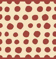 circles seamless pattern retro hand drawn circles vector image vector image
