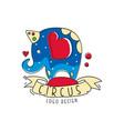 circus logo original design emblem with cote vector image vector image