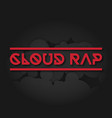 clown rap on a dark background vector image vector image