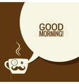 Coffee Cup With Speech Bubble Says Good Morning vector image