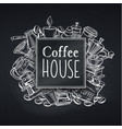 coffee house design chalkboard vector image vector image