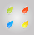 colored shiny glass leaves on a gray background vector image
