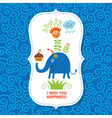 Cute children greeting card vector image