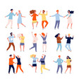 dancing couples funny people male and female vector image vector image