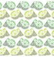 delicious lemon slice and piece fruit background vector image