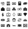 deposit account icons set simple style vector image vector image