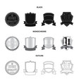 design of emblem and badge sign set of vector image vector image