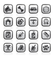 Dog and Cynology object icons vector image vector image