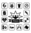 Fitness 2 vector image vector image
