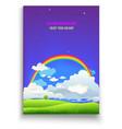 follow your dreams card vector image vector image