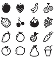 Fruit icons symbol vector image vector image
