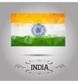 geometric polygonal India flag vector image vector image