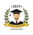 graduate student icon flat isolated vector image