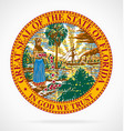 great seal state florida fl vector image