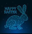 happy easter made by polygonal wireframe mesh vector image