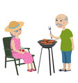 happy grandparents on a rest vector image vector image