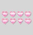 heart floral red sticker valentine card love label vector image