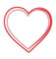 heart love symbol vector image vector image