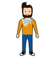 isolated hipster character vector image vector image