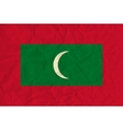 Maldives paper flag vector image