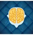 Modern Business Brain Concepts In Flat Design vector image vector image