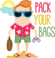 Pack Your Bags vector image vector image