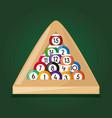 pool billiard hobby play game vector image vector image