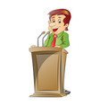 portrait of businessman at podium vector image