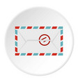 postage envelope with stamp icon circle vector image vector image