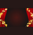 realistic red curtains golden ribbons and theater vector image vector image