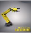 robotic equipment industrial background vector image