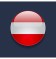 Round icon with flag of Austria vector image vector image