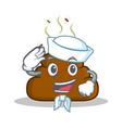 sailor poop emoticon character cartoon vector image vector image