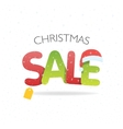 Sale inscription with snowflakes in paper style vector image vector image
