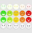set emoticons emoji level rank load vector image vector image