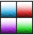 Set of Abstract Gradient Geometric Bright Backgrou vector image vector image