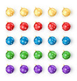 set of christmas balls on white background vector image vector image