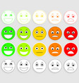 set of emoticons emoji level rank load vector image vector image