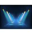set scenic spotlights vector image