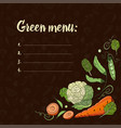 set with vegetables on a dark backgroundeco food vector image vector image